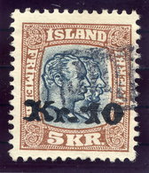 ICELAND 1930 5 Kr. Definitive Surcharged 10 Kr. With TOLLUR Cancellation.  Michel 141 - 1918-1944 Autonomous Administration