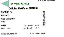 B 1790 - Trenord Varese Milano - Railway