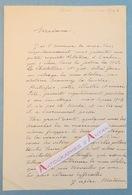 L.A.S 1923 Louis ROGER Peintre Grand Prix De Rome - Mr Le Châtellier Suite Pb Lumière Atelier - Lettre Autographe - Autographes