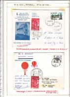 Poste Par Ballon  2 Piéces - Poste Aérienne