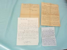 3 LETTRES MANUSCRITES JEAN RUPIED (1882-1974) GÉNÉRAL 1956-1957 MUSSO PIETRANGELI CORSE MAURRAS - Autographes