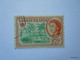 CAYMAN ISLANDS 1962, Queen Elizabeth II, Scene Of Swimming Pool, Cayman Brac, 1s 3d. SG 175. Used. - Cayman Islands