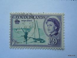 CAYMAN ISLANDS 1962, Queen Elizabeth II, Water Sport, 1s 9d. SG 176. Used. - Cayman Islands
