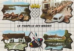 CPSM 44 LA CHAPELLE DES MARAIS MULTIVUES  BLASON DEFILE DE VACHES - France