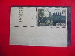 Rare : Timbre  Neuf  1947 ( Fauté Ou Erreur ? )   Du Maroc , Avec Certificat D'Expertise - Marruecos (1956-...)