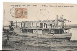 """SOUDAN - Le """" Mage"""" Bateau à Vapeur Sur Le Niger - - Sudan"""
