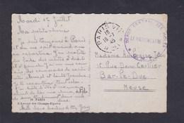 Vente Immediate Cachet Depot Central Des Isoles Guerre 39-45 Sur Carte Paris Avenue Champs Elysees - Marcophilie (Lettres)