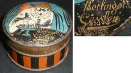 Rare Ancienne Boite En Tôle, Berlingots GESSLER Paris, Made In France, Confiserie Bonbons, Clown - Boxes