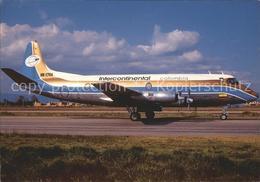 72226392 Flugzeuge Zivil Intercontinental Colombia Vc. Viscount 745D HK-1708 C/n - Aviación