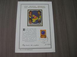 """BELG.1973 1686 FD Lissive,Feuillet D'art Or Fin Limité à 700 Exemplaires (n°562)""""5ème Journée Mondiale Des Télécommunica - 1971-80"""
