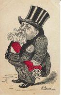 FALLIERES-PRESIDENT DE LA REPUBLIQUE-CARICATURE SATIRIQUE-POLITIQUE-ILLUSTRATEUR ASSUS- - Satirical
