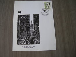 BELG.1972 1641 Masereel,mooie Herinneringskaart Met Eerste Dag Stempels - 1971-80