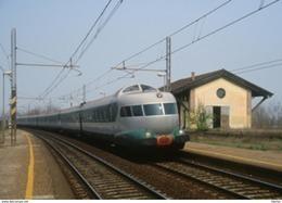 214 FS ETR 302 Settebello San Stefano Lodigiano Rairoad Treain Railweys Treni Rotabili Lodi Breda - Stazioni Con Treni