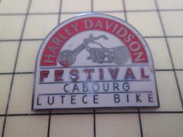Pin813d Pin's Pins / Beau Et Rare / MOTOS : HARLEY DAVIDSON CABOURG CALVADOS FESTIVAL LUTECE BIKE - Motorbikes