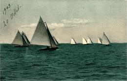Voiliers  Lot De 2 Cartes Série 2080 L'une Datée De 1903 - Sailing Vessels