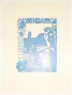 Ex-libris Moderne XXème Illustré -  Allemagne - Femme Lisant - O. SITTE - Ex Libris