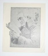 Ex-libris Moderne XXème Illustré -  Allemagne - Homme Lisant - Karoli BARACS - Ex Libris