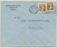 Schweiz - 1921 - 2 & 3c Tellknabe On Commercial Cover From Basel To Kempten - Zwitserland