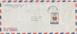 Peru Air Mail Cover Sent To Denmark 1971 Single Franked - Peru
