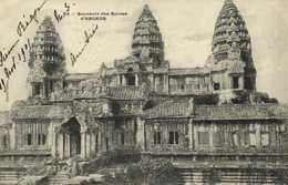 Souvenir Des Ruines D' ANGKOR  RV  Timbre 2 SIAM  Cachet PNOMPENH  Cambodge Battamborg - Cambodia