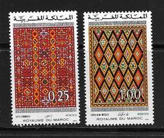 MAROC 1975 TAPIS MAROCAINS  YVERT N°741/42  NEUF MNH** - Marruecos (1956-...)