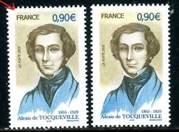 France - N° 3780 - 1 Exemplaire Haut En Vert + 1 Normal Sans Vert , Neufs ** - Ref VJ82 - Abarten: 2000-09 Ungebraucht