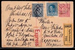Austria R. Expres Extra Franked Postal Stationery - Entiers Postaux