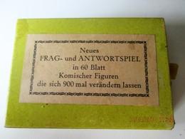 FRAG Und ANTWORTSPIEL In 60 Blatt Die Sich 900 Mal Verändernn - OLD CARD GAME - 60 Cards That Can Combine 900 Figures - Gesellschaftsspiele