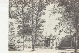 CP Vue Du Château De Lamorlaye 1881 - Reproduction - Double - France