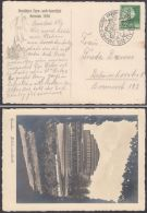 MiNr. 666, Sportfest Breslau 1938, Fotokarte Jahrhunderthalle, Pass. Sst, Gelaufen - Deutschland
