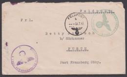 Feldpost : Brief Mit 2 Dienststempeln : 12963A Und 12963B, 4.7.41, Interes. Inhalt - Briefe U. Dokumente