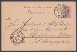 """P 18 I, Sauberer Bedarf Nach """"Strassburg/Els."""", Int. Stempel """"Osterrode/Harz"""", 7.5.88 - Deutschland"""