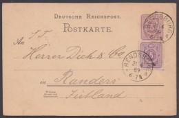 """P 18 I, Bedarf """"Rendsburg"""", 21.4.89 Nach Jütland Mit Pass. Zusatzfrankatur - Deutschland"""