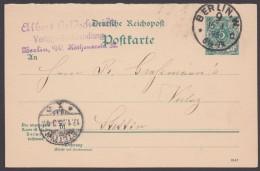 "P 31 A F, Bedraf ""Berlin W.9"", 16.1.95, KBHW : 344 - Deutschland"