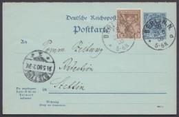"""P 41 I F, MiF Mit Germania/Reichspost, Bedarfs-Fernkarte """"Berlin N.58"""" - Deutschland"""