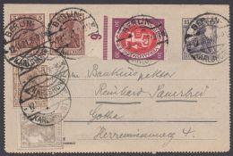 """K 17, Bedarf """"Berlin"""", 12.11.21, Dekorative Zusatzfrankatur - Deutschland"""