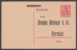 """P 107 I, Zudruck """"Dürninger,Herrnhut"""", Ungebraucht - Deutschland"""
