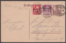 """P 116 I, Bedarf Mit Zusatzfr. (u.a. 122 Mit Plf. I), """"Neuhaus/Rennweg"""", 9.5.23 - Deutschland"""