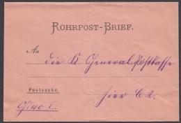 """Rohrpostbrief """"Postsache"""", Giro I, Vorgedruckte Adresse, Ungebraucht - Deutschland"""