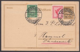 """PI, Bedarf Nach Dänemark, Pass. Frankatur """"Hirschberg/Schlesien"""", 3.9.26 - Deutschland"""
