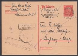 """P 171 I, Bedarf Nach Straßburg"""", Diverse """"retour""""-Stempel - Deutschland"""