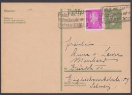 P 180 I, Bedarf In Die Schweiz Mit Pass. Zusatzfrankatur - Deutschland