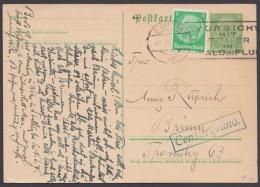 """P 225 I, Bedarf Mit Zusatzfr. Zum """"Ost""""-Tarif, """"Wien"""", 26.10.38, Tschech. Zensur-Ra - Deutschland"""