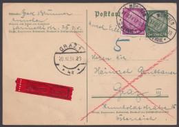 P 226 I, Bedarfs-Eilboten Nach Graz Mit Pass. Zusatzfrankatur, 19.12.34 - Deutschland