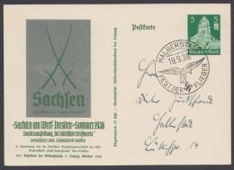 """P  269, Ortskarte """"Halberstadt"""", Sst """"Fest Der Flieger"""", 18.9.38 - Deutschland"""
