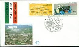 20/1/1983- ITALIA REPUBBLICA-BUSTA FILAGRANO -LAVORO ITALIANO NEL MONDO-ROMA--MARCOFILIA - 6. 1946-.. Repubblica