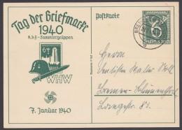 """P 288, Ortsstempel """"Bremen-Blumenthal"""", 29.1.40, Kein Text - Deutschland"""