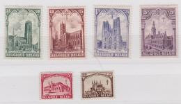 BELGIQUE  C.O.T.P.B.  N° 267*-272* - Unused Stamps