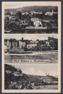 """""""Bad Kösen/Rudelsburg"""", Mehrbild-Fotokarte, 1952 - Bad Kösen"""