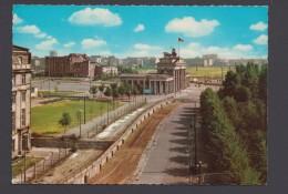 """""""Brandenburger Tor Mit Mauer"""", Farbig, 1966 Gelaufen - Berliner Mauer"""